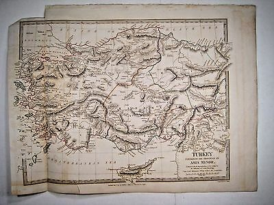 1830 SDUK: Map of Turkey, containing the provinces in Asia Minor