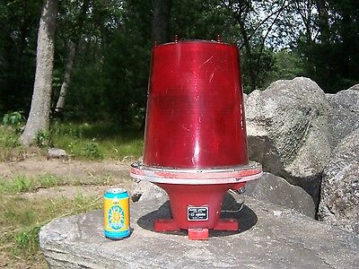 Vintage Large Nautical Marine Navigation Lamp Light Red Ship Dock Marina