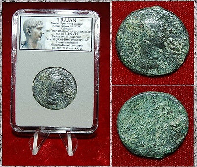 Roman Empire Coin Of TRAJAN  Fortuna On Reverse SPQR OPTIMO PRINCIPI