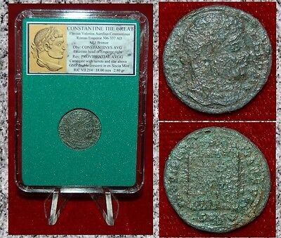 Ancient Roman Empire Coin OF CONSTANTINE THE GREAT Campgate On Reverse Siscia