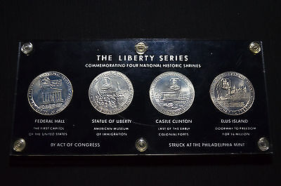 """""""the Liberty Series"""", 1965 National Commemorative Silver Medal Set, Turner 12-15"""