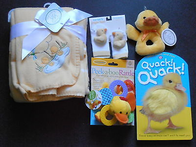 Lot of New with Tags Baby Items Blanket Rattle Booties Book Carter Koala Yellow