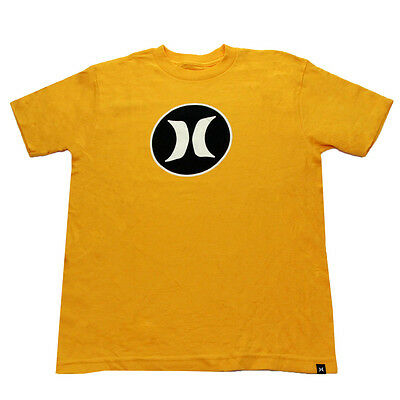 Hurley Youth Block Party Icon T-Shirt Yellow L