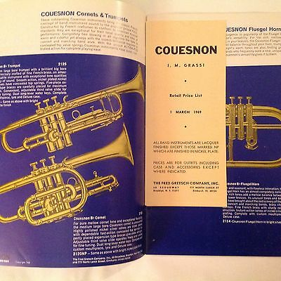 1969 Cousesnon I.M. Grassi Band Instruments Catalog 55 With Price List Original