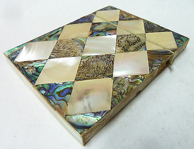 Antique Victorian Mother Of Pearl Card Case - 100mm x 80mm