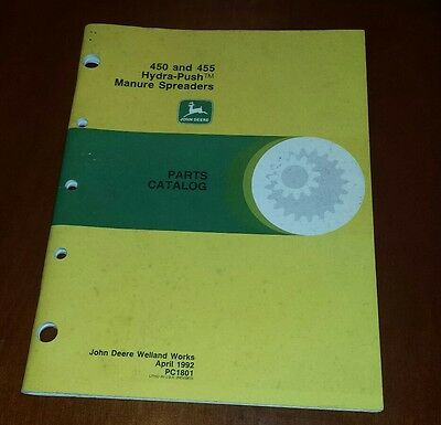 John Deere 450 and 455 Hydra-Push Manure Spreaders Parts Catalog