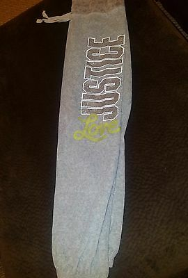 girls size 8 Justice gray velour pants