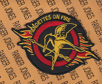 """USAF Air Force 36th Fighter Squadron FS Fiendettes on Fire 5.75"""" patch"""