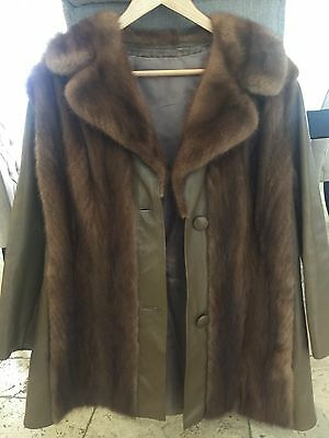 Leather And Sable Fur Jacket
