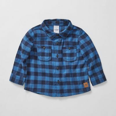 NEW Baby Flannelette Check Shirt