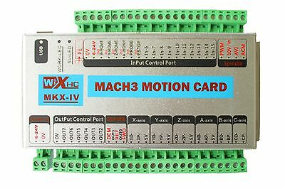 Mach3 USB XHC 3 Axis 2MHz CNC Motion Control Card Breakout Board MK3-IV