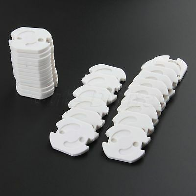 10Pcs EU Plug Socket Cover Proof Baby Child Safety Protector Guard Electrical
