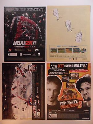 Lot of 16 Sports Video Game Magazine Print Ads ~ NHL Face Off, Tony Hawk ++