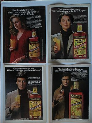 Nice Lot #3 of 11 Different Myer's Myers Rum Magazine Print Ads