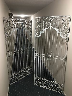 Antique Vintage Hand Wrought Iron Gates - late 1800s
