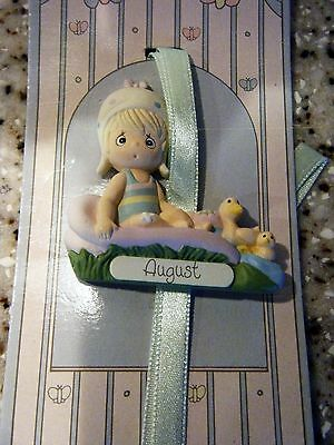 Precious Moments Collectable August Birthday Book Marker Figurine