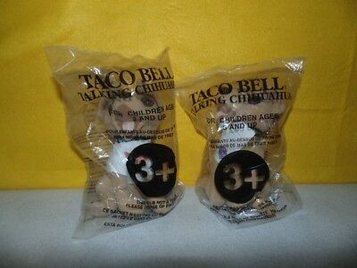 Two Taco Bell Talking Chihuahuas in packages: No Voice