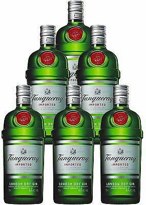 Tanqueray London Dry Gin 700mL 6 Bottles