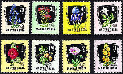 Hungary 1961 Mint Medicinal Plants Flowers Complete Set MNH