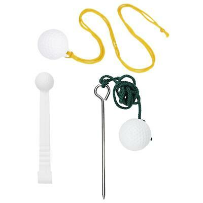 3 Types Set Golf Driving Rope Ball Swing Alignment Hit Training Aids