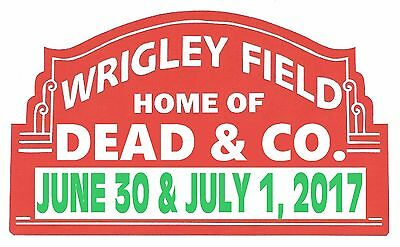 Grateful Dead and Company Chicago Wrigley Field Sign Sticker 3 Pak