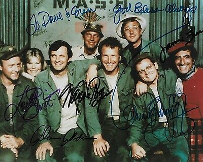 MASH TV CAST Autographed 8 x 10 Signed Photo SIGNED BY 5
