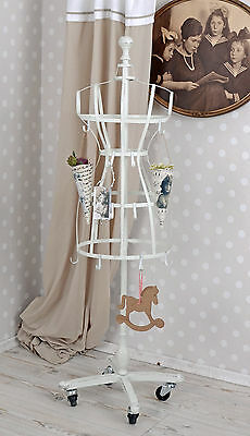 Clothes Stand White Dress Bust Hook tailor's dummy on Rolls Dressmaker's dummy