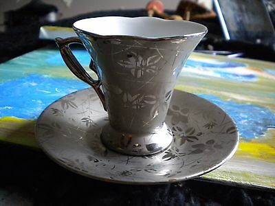Milano Collection Fine Porcelian Silver Collections China Teacup