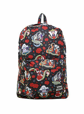 NWT Loungefly Disney Villains Tattoo All Over Print Backpack