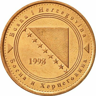 [#467841] BOSNIA-HERZEGOVINA, 50 Feninga, 1998, British Royal Mint, VZ, Copper