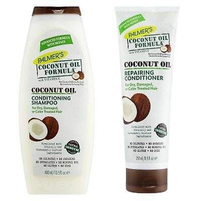 Palmers Coconut Oil Conditioning Shampoo 400ml & Repairing Conditioner 250 ml