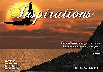 Inspirations 2018 Big Print Wall Calendar NEW by Bartel - Postage Included