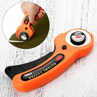 Tailor Tool Round Cloth Cutting Knife Fabric Carpet Rug Leather Rotary Cutter