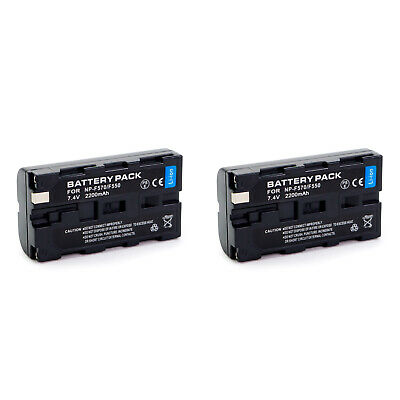 2 X NP-F330/NP-F550/NP-F570 Battery for Sony Camera Camcorder NPF550 NPF570