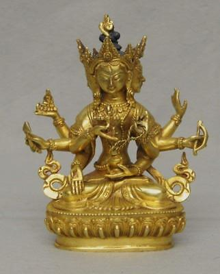 Sino-Tibetan Gilt Bronze Seated Buddha, E. 20Th