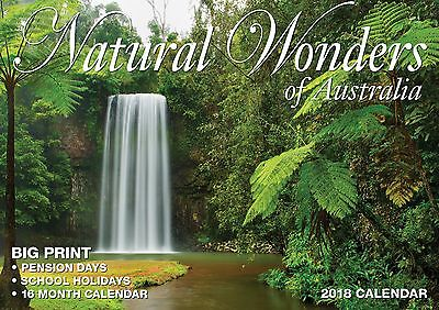 Natural Wonders of Australia 2018 Big Print Wall Calendar Bartel - Postage Free
