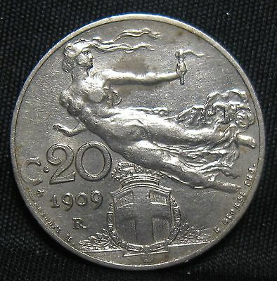 Superb Italy 1909 20 Centimes