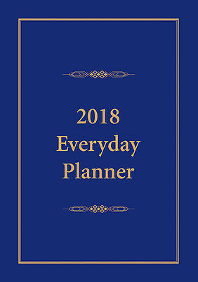2018 Everyday Planner Blue A4 Size NEW by Bartel Calendars - Postage Included