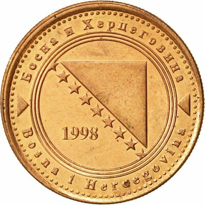 [#467840] BOSNIA-HERZEGOVINA, 20 Feninga, 1998, British Royal Mint, VZ, Copper