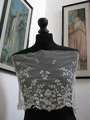 Very Beautiful and Old Antique Vintage Lace Piece 68 cm x 27 cm