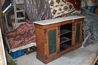Antique Victorian Mahogany Breakfront Side Cabinet