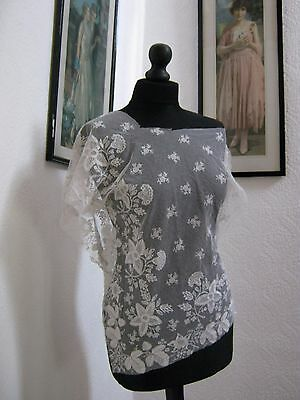 Very Beautiful and Old Antique Vintage Lace - Large Irregular Piece