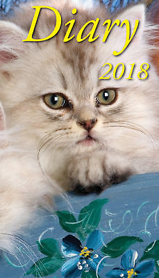 2018 Pocket Diary - Cats & Kittens by Bartel Calendars - Postage Included