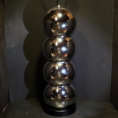 Mid Century Modern Space Age Chrome Atomic Stacked Ball Lamp Eames Era Kovacs