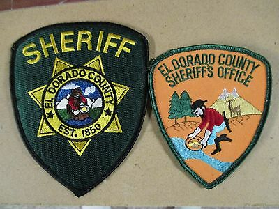 El Dorado County California Sheriff Patch set/ Old and New style
