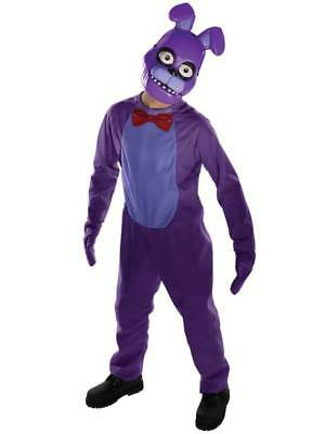 Kids Five Nights At Freddy's Bonnie New Fancy Dress Child Boys Halloween Costume