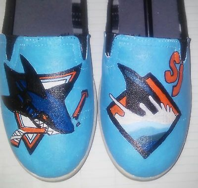 San Jose Sharks hand painted shoes