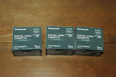 Lot of 13 Panasonic Digital Video Cassettes AY-DVM63PQ, New, Free Shipping