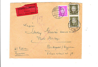 Germany 1931 Expres Cover  From Berlin To Hungary   Vf