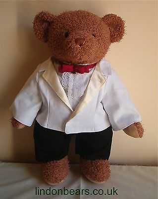 """NEW LINDON JOINTED BEAR IN ELEGENT 5pce EVENING SUIT -16""""/40CM TALL-ON OFFER £30"""